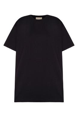 Черная хлопковая футболка Erika Cavallini 1770184266