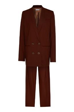 Коричневый шерстяной костюм Rejina Pyo 2953184313