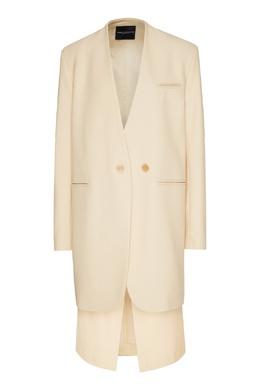 Молочно-белый полушерстяной костюм Erika Cavallini 1770184315
