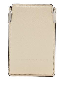 Кремовая кожаная сумка Barbara Bui 1950184331
