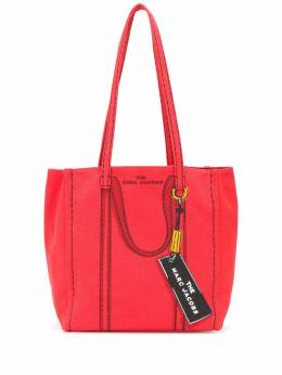 Marc Jacobs stitch detail handle illustrated tote bag M0015787601