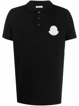 Moncler рубашка-поло с нашивкой-логотипом F10918A7040084556