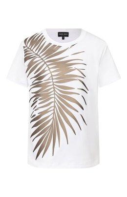 Хлопковая футболка Giorgio Armani 3HAM56/AJJZZ