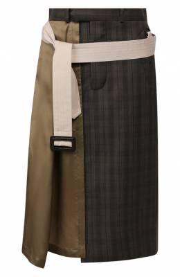 Шерстяная юбка Maison Margiela S51MA0366/STN899