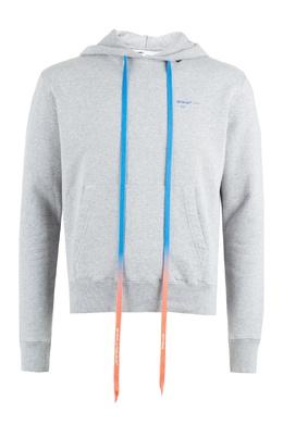Серое худи с цветным шнурком Off-White 2202184539