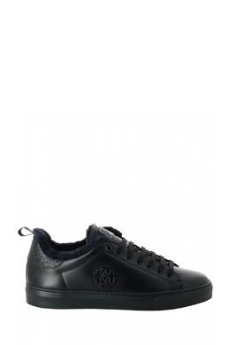 Черные кеды с меховой подкладкой Roberto Cavalli 314184671