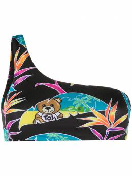 Moschino Teddy Bear one-shoulder bikini top 57202125