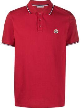 Moncler logo patch polo shirt F10918A7030084556