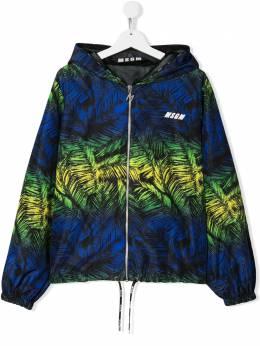 MSGM Kids куртка с капюшоном и принтом 022410