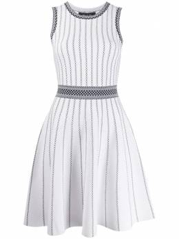 Paule Ka striped knit skater dress 419RO45C