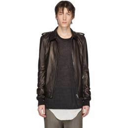 Rick Owens Black Leather Rotterdam Jacket RU20S7766 LLP