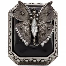 Alexander McQueen Silver Butterfly Ring 610765I12RY