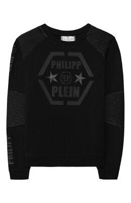 Хлопковый свитшот Philipp Plein S19C BJ00090 PJ0002N/4-10
