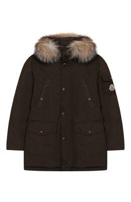 Пуховая куртка с меховой отделкой на капюшоне Moncler Enfant E2-954-42322-25-57244/8-10A