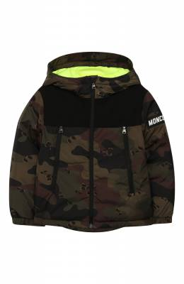 Пуховая куртка с капюшоном Moncler Enfant E2-954-41324-85-C0298/4-6A