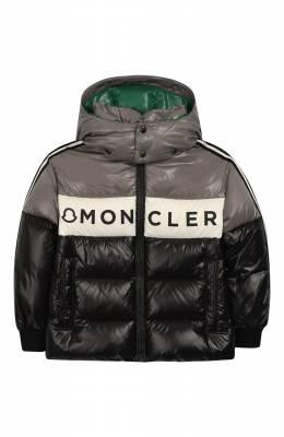 Пуховая куртка с капюшоном Moncler Enfant E2-954-41312-05-68950/4-6A