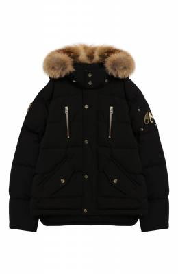 Пуховая куртка с меховой отделкой на капюшоне Moose Knuckles MK7593UP3Q