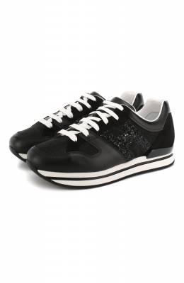 Комбинированные кроссовки Hogan HXW2220U352KGA
