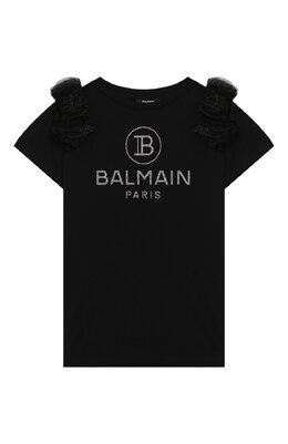 Хлопковая футболка Balmain 6M8051/MA030/4-10