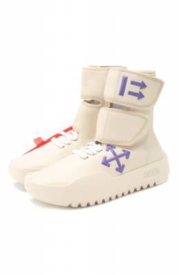Текстильные кроссовки CST- 001 Off-White 0WIA132E19F45105B1B2
