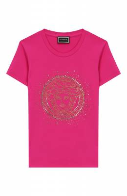 Хлопковая футболка Versace YC000141/YA00019/8A-14A