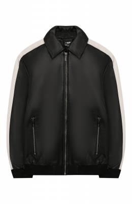 Кожаная куртка Karl Lagerfeld Kids Z26050/14A-16A