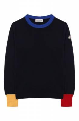 Шерстяной пуловер Moncler Enfant E2-954-90077-05-A9214/4-6A