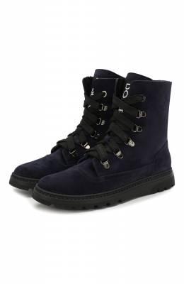 Замшевые ботинки с меховой отделкой Dolce&Gabbana DA0744/AA259/37-39