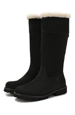 Замшевые сапоги с меховой отделкой Dolce&Gabbana D10892/AA394/29-36