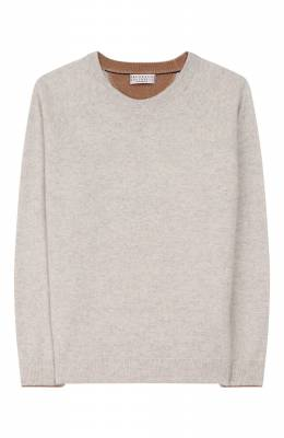 Пуловер из шерсти и кашемира Brunello Cucinelli B3609218B