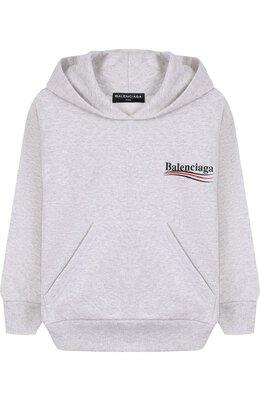 Хлопковое худи с логотипом бренда Balenciaga 509656/TYK92