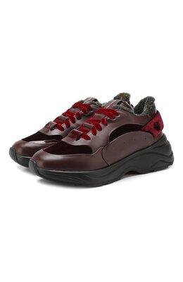 Кожаные кроссовки Santoni WBB060569NEAPNVSB50