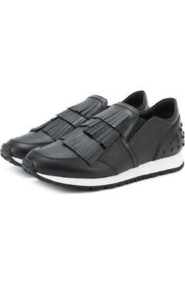 Кожаные кроссовки Sportivo с бахромой Tod's XXW0Y00T290G76