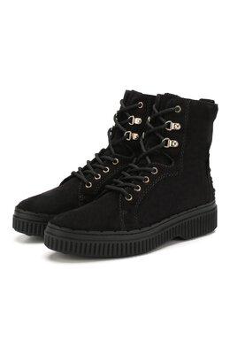 Замшевые ботинки Tod's XXW39A0AM51RE0